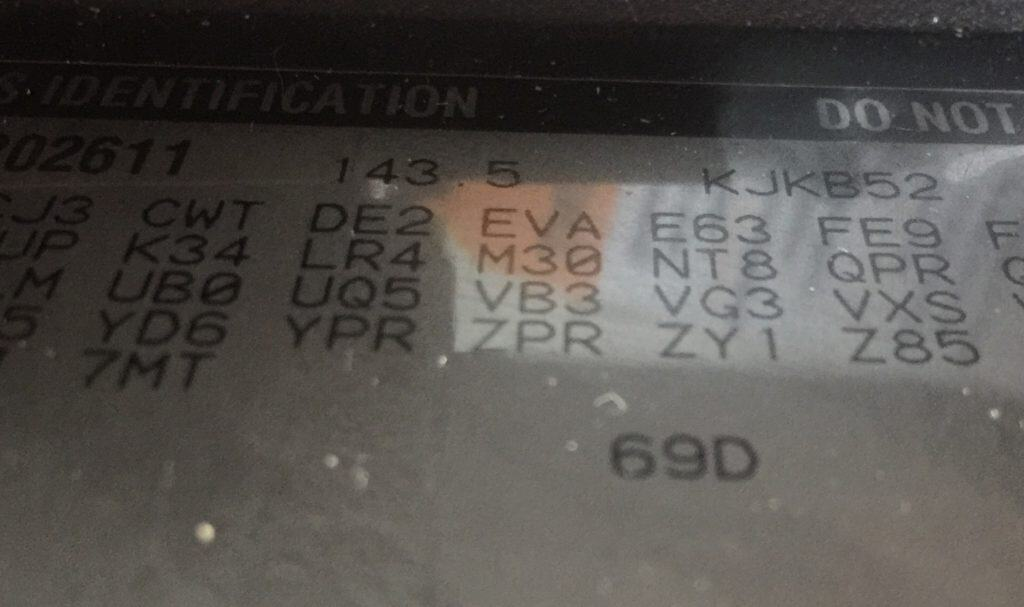 NV3500 Trans ID M50 RP0 codes