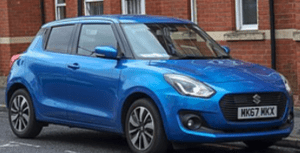 Blue Smoke Suzuki Swift