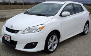 Hesitation When Starting Toyota Matrix