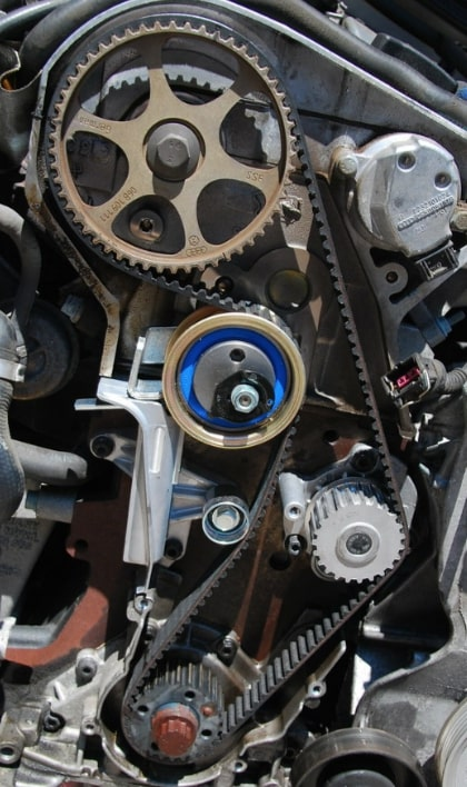 Is a timing belt the same as timing chain?